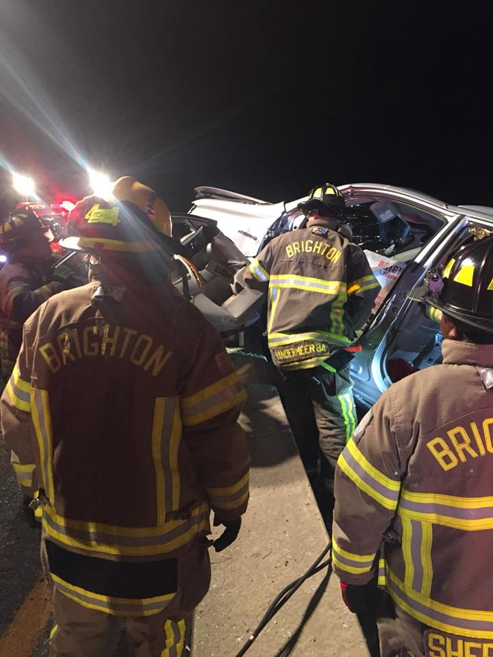 Firefighters Respond To Early Morning Suv Accident